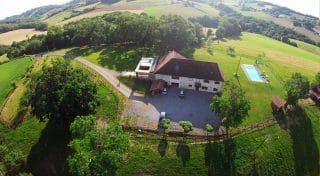 Aerial view of the house azkena