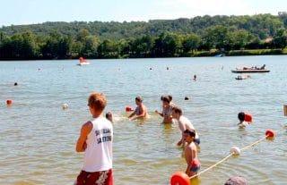 Baignade Base de loisirs d'Orthez-Biron