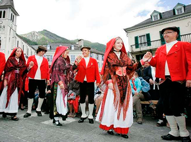 Laruns festival with carnival